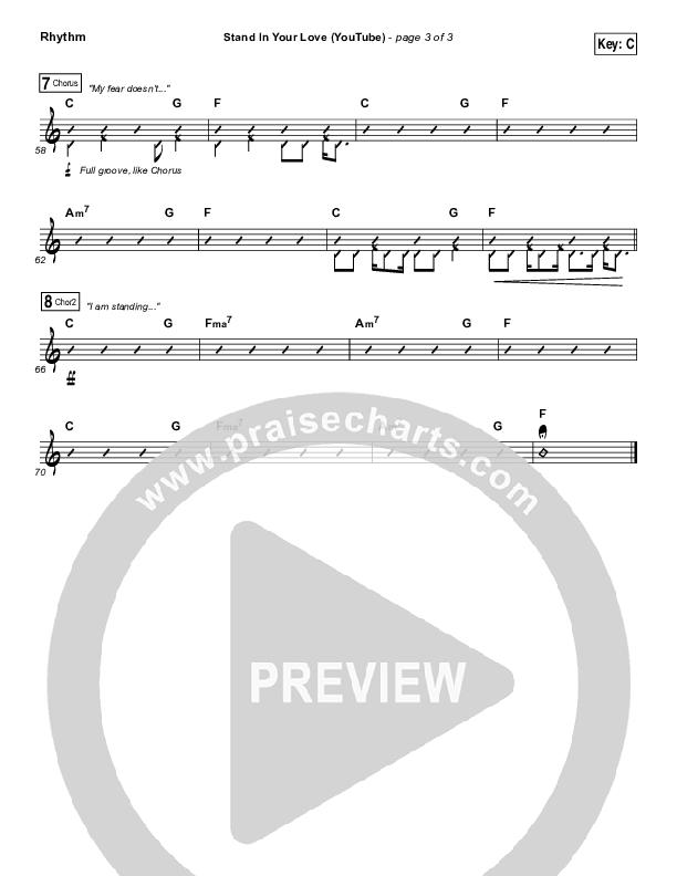 Stand In Your Love (YouTube) Rhythm Chart (Bethel Music / Josh Baldwin)