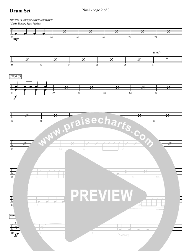 Noel (He Shall Reign Forevermore) (Choral) Orchestration (Brentwood-Benson Choral / Arr. Bradley Knight)