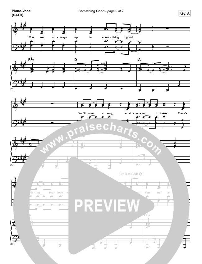 Something Good Piano/Vocal (SATB) (Gateway Worship)