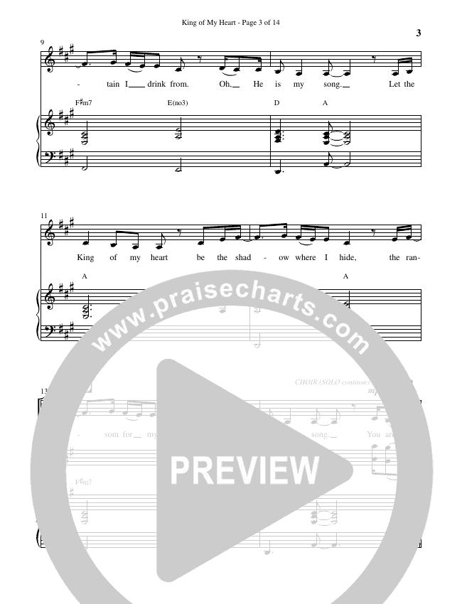 King Of My Heart (Choral) Piano Vocal (John Mark McMillan / Sarah McMillan / Brentwood-Benson Choral / Arr. Cliff Duren)