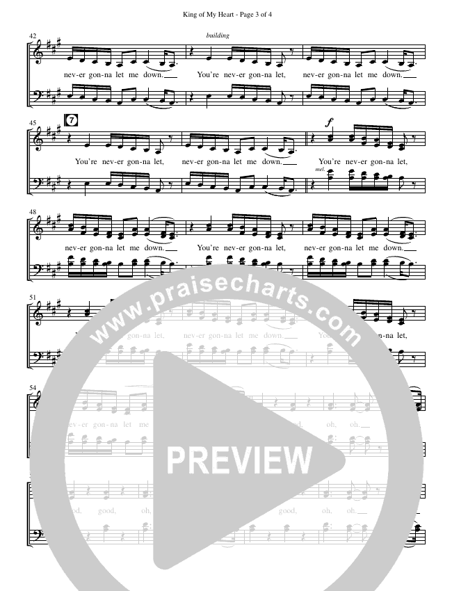 King Of My Heart (Choral) Choir Sheet (SATB) (John Mark McMillan / Sarah McMillan / Brentwood-Benson Choral / Arr. Cliff Duren)