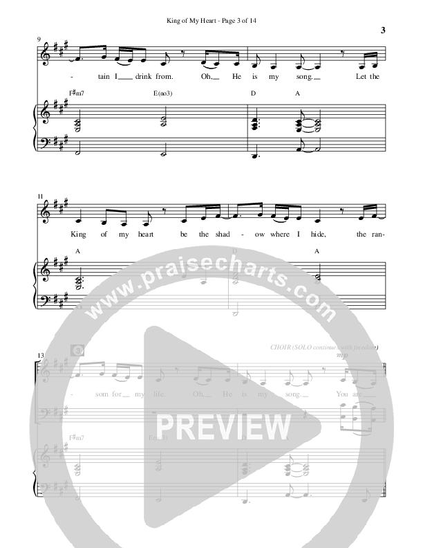 King Of My Heart (Choral) Piano Vocal (John Mark McMillan / Sarah McMillan / Brentwood Benson Choral / Arr. Cliff Duren)
