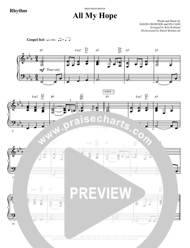 All My Hope (Choral) Orchestration (David Crowder / Brentwood-Benson Choral / Arr. Kirk Kirkland, Daniel Bondaczuk)