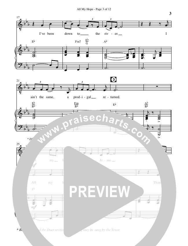 All My Hope (Choral) Piano Vocal (David Crowder / Brentwood-Benson Choral / Arr. Kirk Kirkland, Daniel Bondaczuk)