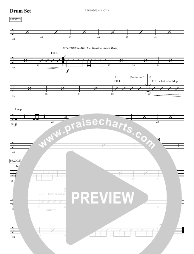 Tremble (No Other Name) (Choral) Orchestration (Brentwood-Benson Choral / Arr. Mason Brown, Jeff Anderson)