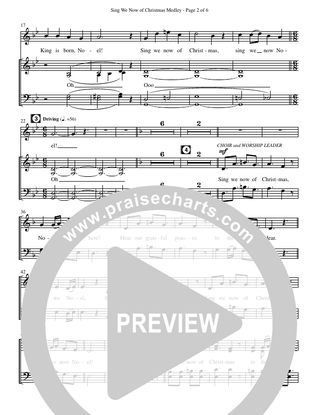 Sing We Now Of Christmas Medley (Choral) Choir Sheet (SATB
