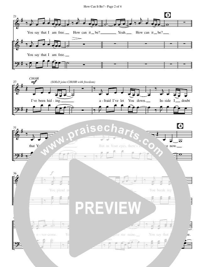 How Can It Be (Choral) Choir Sheet (SATB) (Brentwood Benson Choral / Arr. Cliff Durren)