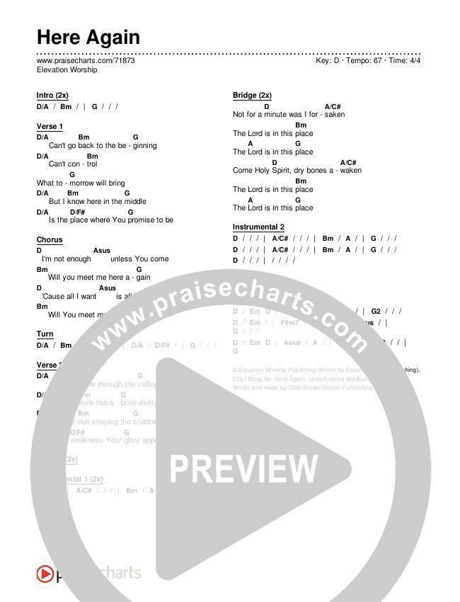 Here Again Chords & Lyrics (Elevation Worship)