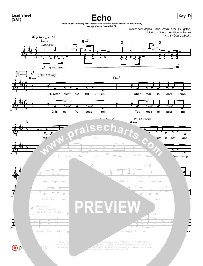 Echo Orchestration (with Vocals) (Elevation Worship / Tauren Wells)