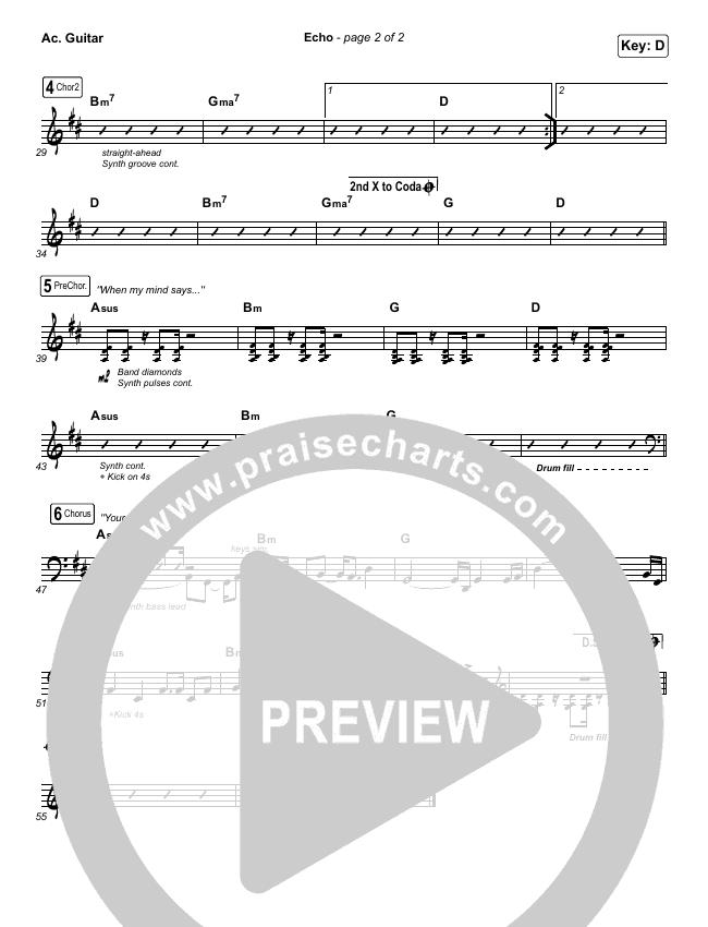 Echo Rhythm Acoustic Guitar Chart - Elevation Worship