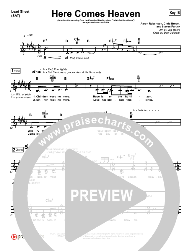 Here Comes Heaven Orchestration (with Vocals) (Elevation Worship)
