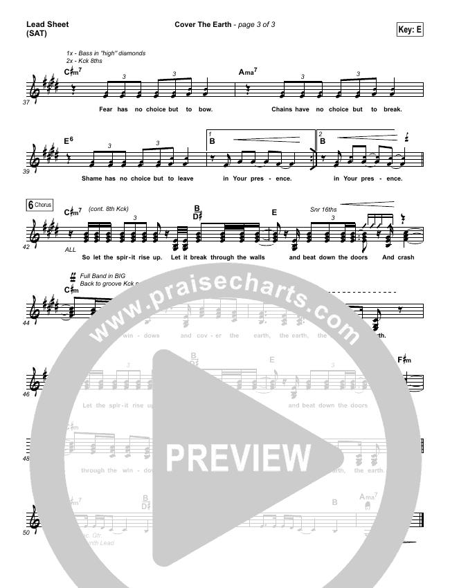 Cover The Earth Lead & Piano/Vocal (Cody Carnes / Kari Jobe)
