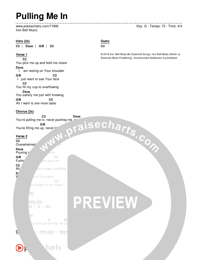 Pulling Me In Chords & Lyrics (Iron Bell Music)