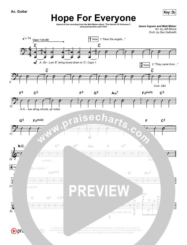 Hope For Everyone Rhythm Chart (Matt Maher)