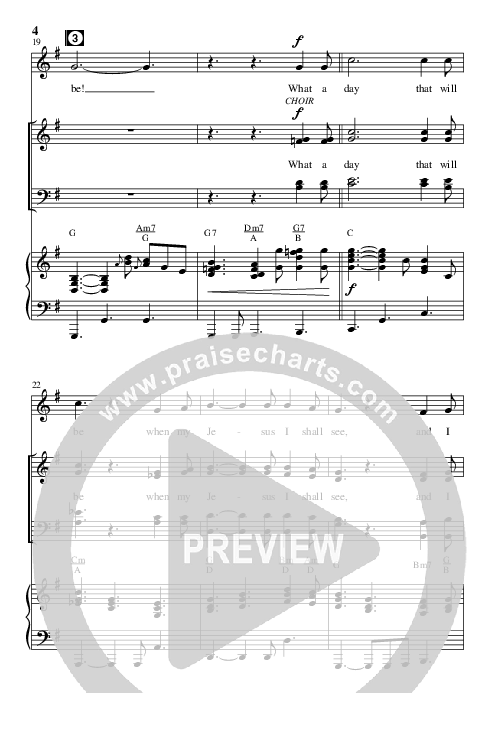 What A Day That Will Be (with Face To Face) (Choral) Piano Vocal (Brentwood Benson Choral / Arr. Marty Hamby)