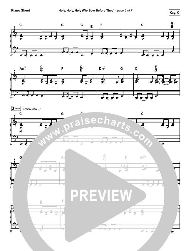 Holy Holy Holy (We Bow Before Thee) Piano Sheet (Shane & Shane / The Worship Initiative)