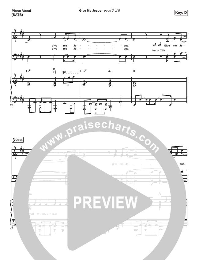 Give Me Jesus Piano/Vocal (SATB) (Shane & Shane / The Worship Initiative)