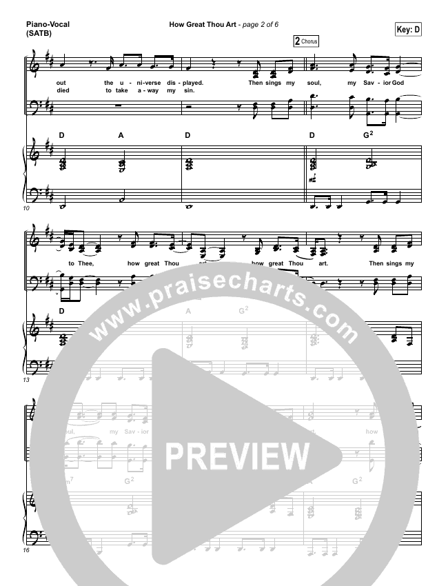 How Great Thou Art Piano/Vocal (SATB) (Shane & Shane / The Worship Initiative)