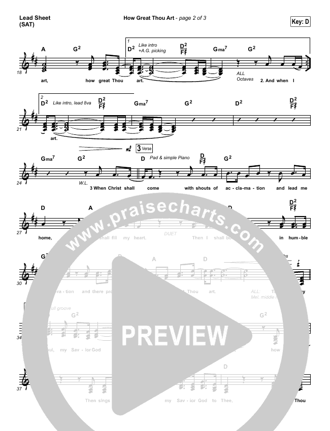 How Great Thou Art Piano/Vocal Pack (Shane & Shane / The Worship Initiative)