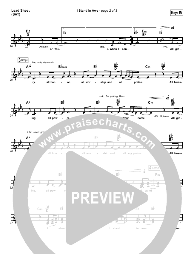 I Stand In Awe Lead & Piano/Vocal (Chris Tomlin / Nicole Serrano)