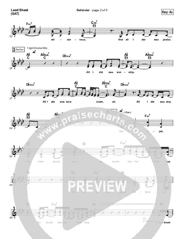 Defender Lead & Piano/Vocal (Francesca Battistelli)