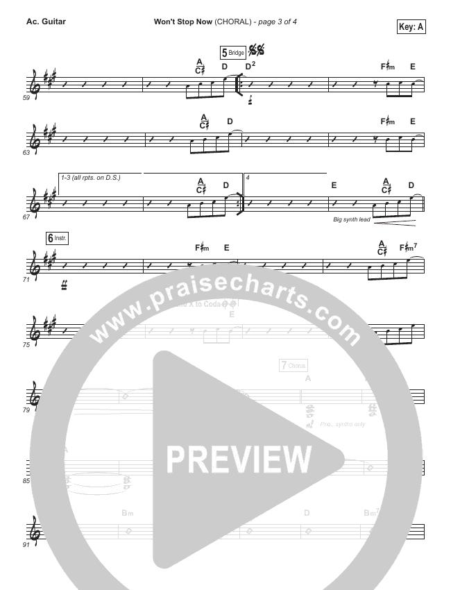 Won't Stop Now (Choral) Rhythm Chart (Elevation Worship / PraiseCharts Choral)