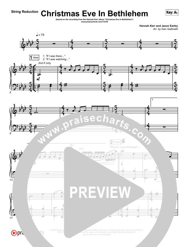 Christmas Eve In Bethlehem String Pack (Hannah Kerr)