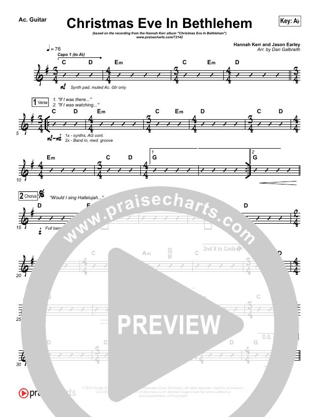 Christmas Eve In Bethlehem Rhythm Chart (Hannah Kerr)