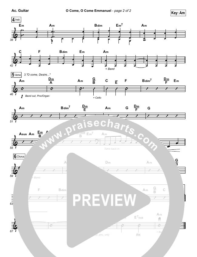 O Come O Come Emmanuel Rhythm Chart (Lauren Daigle)