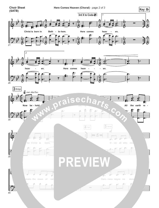 Here Comes Heaven (Choral) Choir Sheet (SATB) (Elevation Worship / PraiseCharts Choral)