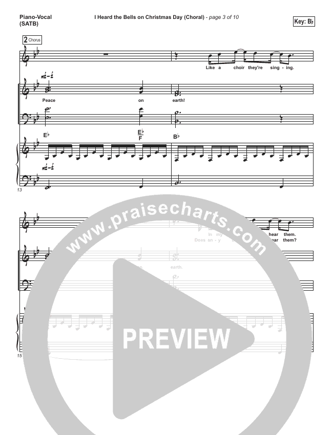I Heard The Bells On Christmas Day (Choral) Orchestration (Casting Crowns / PraiseCharts Choral)