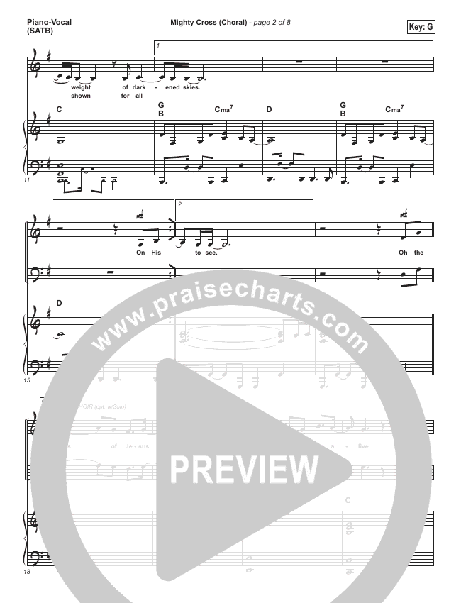 Mighty Cross (Choral) Orchestration (PraiseCharts Choral / Elevation Worship / Arr. Luke Gambill)