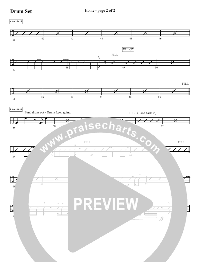 Home (Choral) Orchestration (Brentwood Benson Choral / Arr. David Clydesdale)
