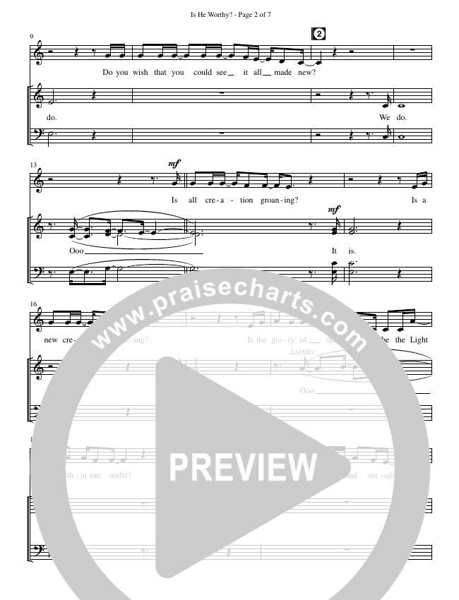 Is He Worthy (Choral) Choir Sheet (SATB) (Brentwood-Benson Choral / Arr. Russell Mauldin)