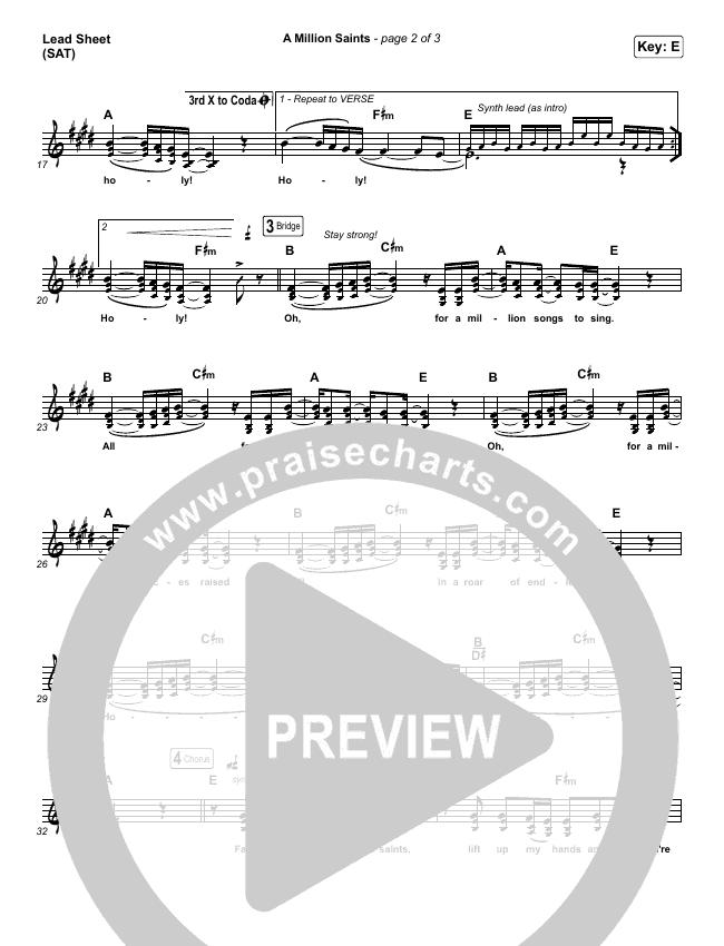 A Million Saints Orchestration & Finale (Meredith Andrews)