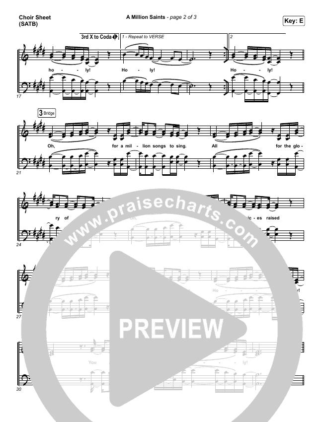 A Million Saints Choir Sheet (SATB) (Meredith Andrews)