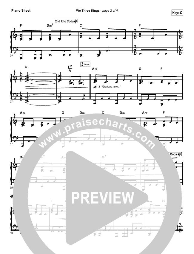 We Three Kings Piano Sheet (Tenth Avenue North / Britt Nicole)