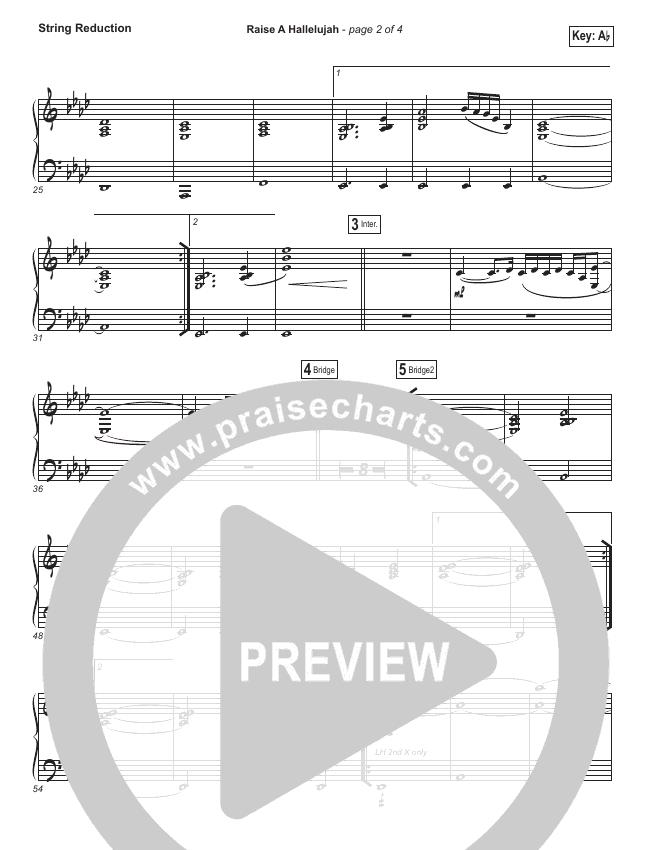 Raise A Hallelujah String Pack (Bethel Music / Melissa Helser / Jonathan David Helser)