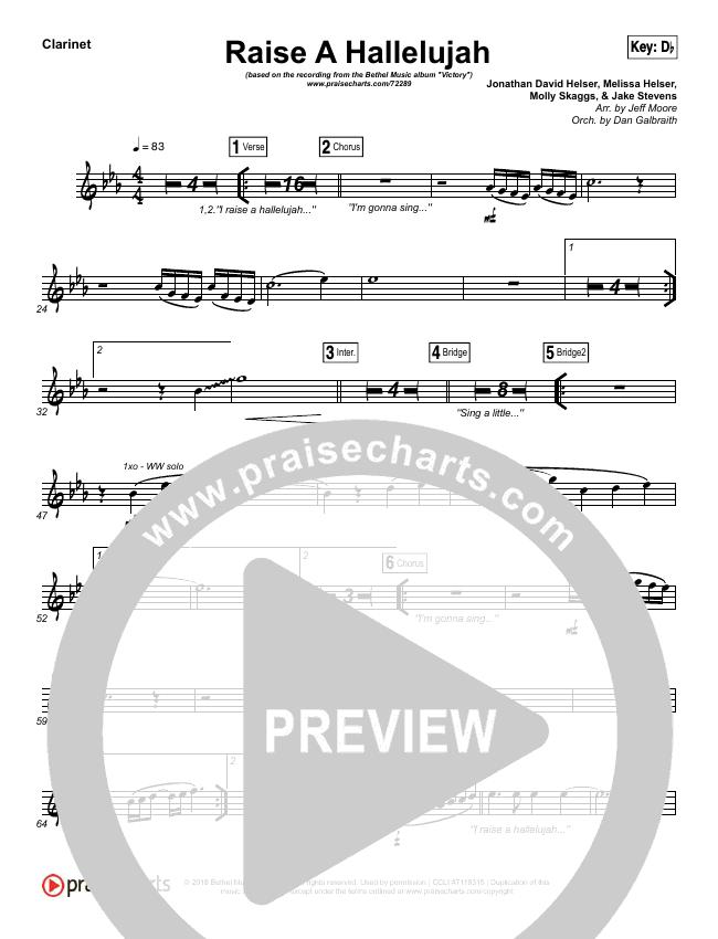 Raise A Hallelujah Wind Pack (Bethel Music / Melissa Helser / Jonathan David Helser)