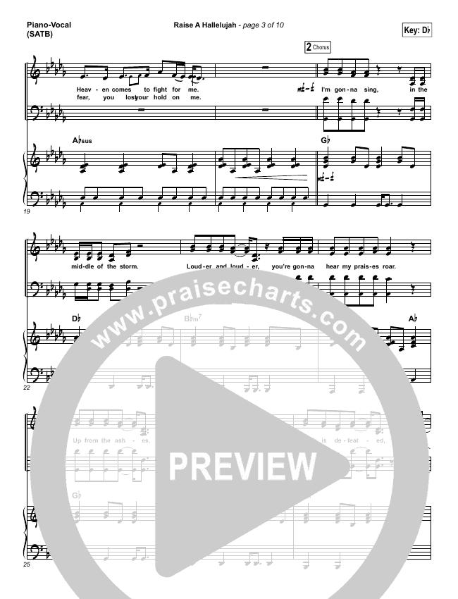 Raise A Hallelujah Piano/Vocal (SATB) (Bethel Music / Melissa Helser / Jonathan David Helser)