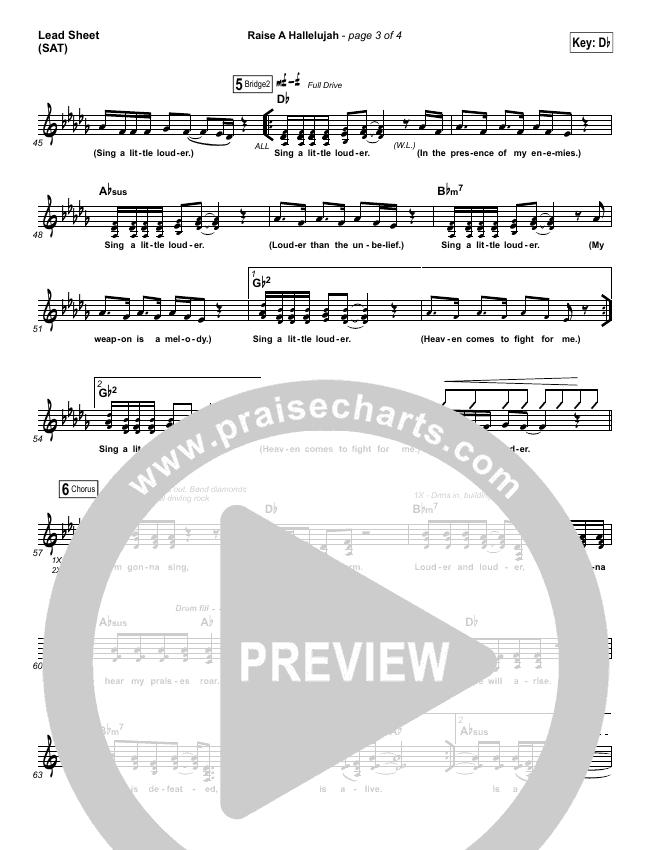 Raise A Hallelujah Piano/Vocal Pack (Bethel Music / Melissa Helser / Jonathan David Helser)