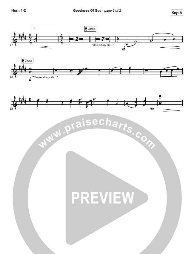 Goodness Of God Brass Pack (Bethel Music / Jenn Johnson)