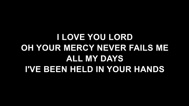 Goodness Of God Lyric Slides (Bethel Music / Jenn Johnson)