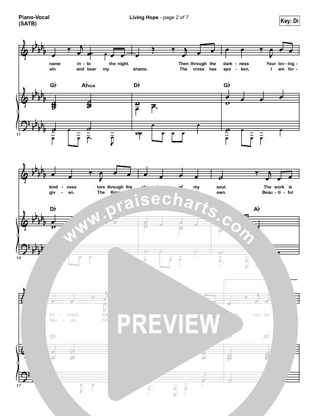 Living Hope Piano/Vocal (SATB) (Bethel Music / Brian Johnson / Jenn Johnson)