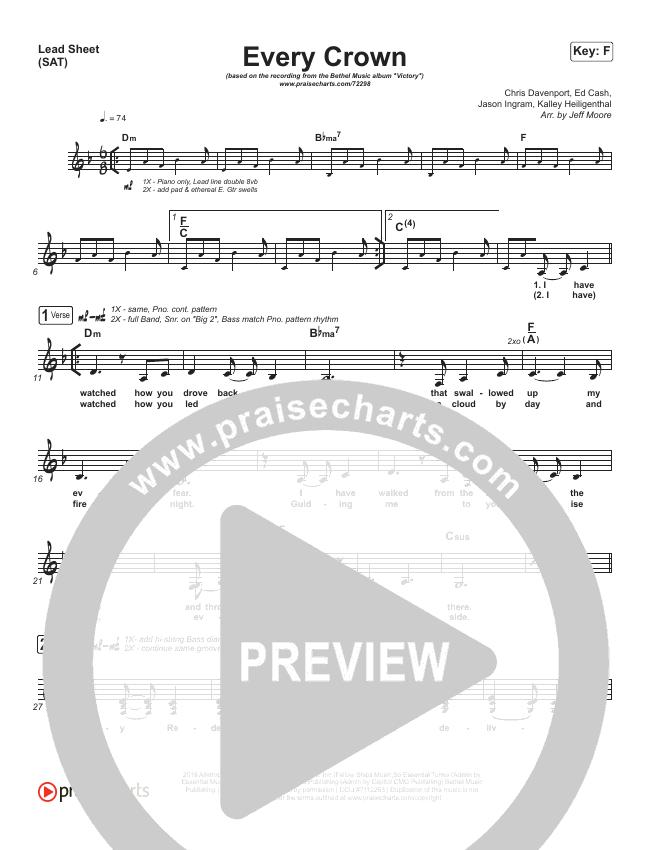 Every Crown Lead (SAT) (Bethel Music / kalley)