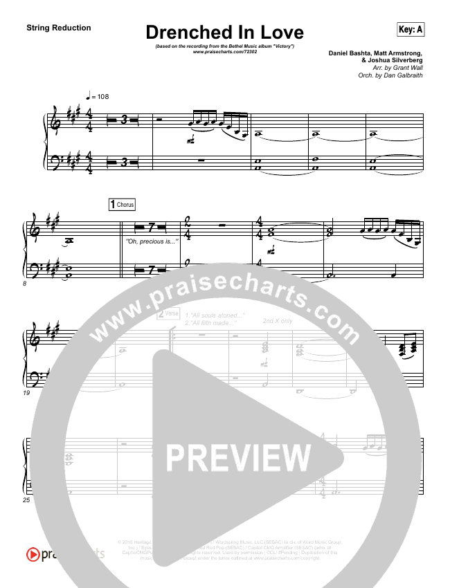Drenched In Love String Pack (Bethel Music / Daniel Bashta / Harvest)