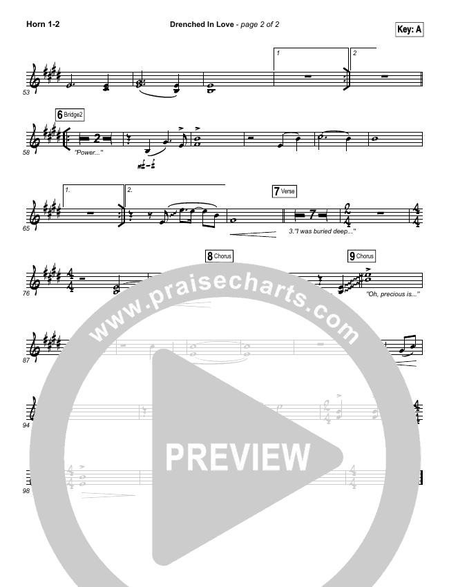 Drenched In Love Brass Pack (Bethel Music / Daniel Bashta / Harvest)