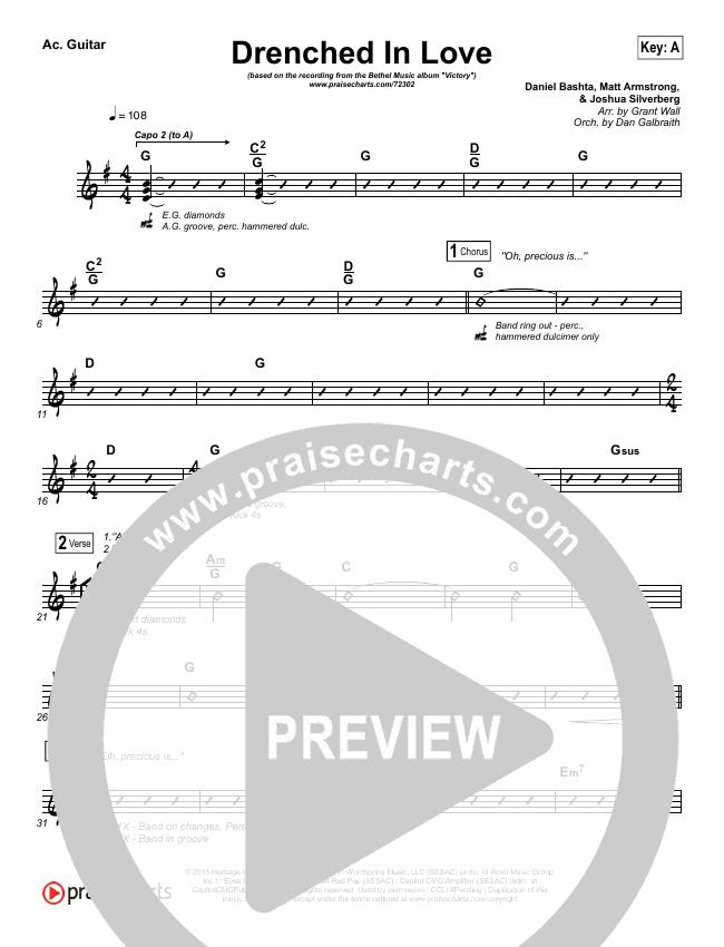 Drenched In Love Rhythm Chart (Bethel Music / Daniel Bashta / Harvest)