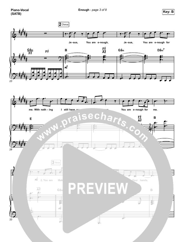 Enough Piano/Vocal (SATB) (Elias Dummer)