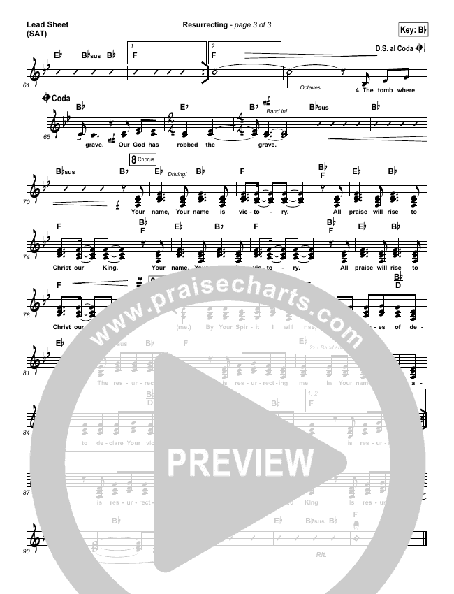 Resurrecting (Choral) Lead & Piano/Vocal (PraiseCharts Choral / Elevation Worship / Arr. Luke Gambill)